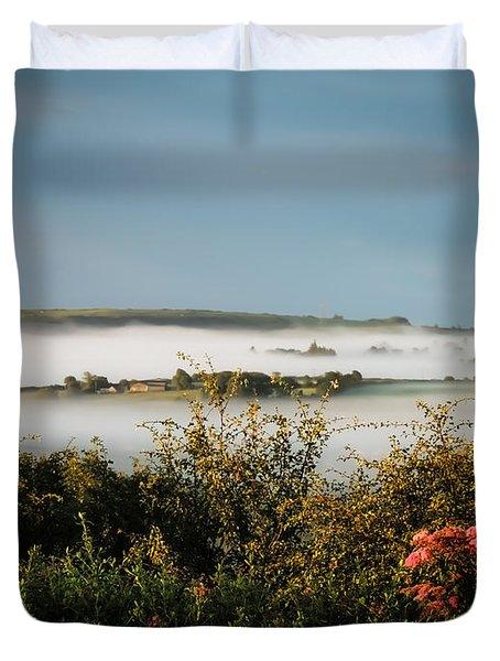 Irish Mist Over Lissycasey Duvet Cover