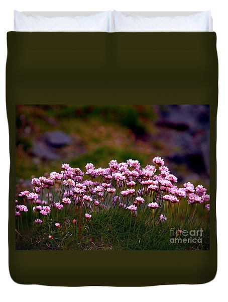 Irish Sea Pinks Duvet Cover by Patricia Griffin Brett