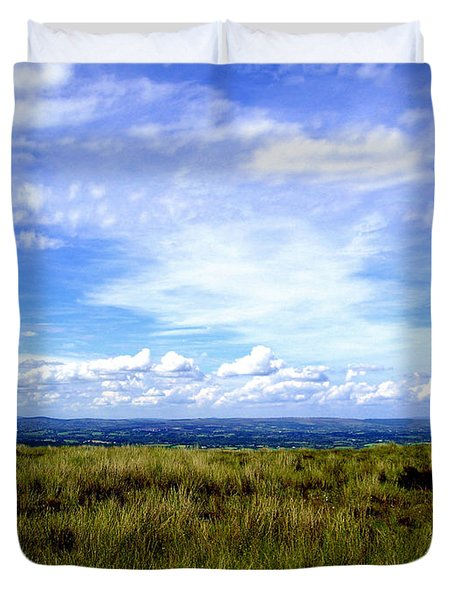 Duvet Cover featuring the photograph Irish Sky by Nina Ficur Feenan