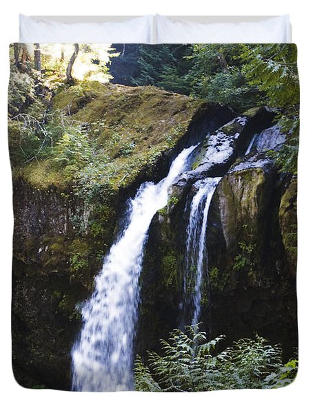 Iron Creek Falls Duvet Cover