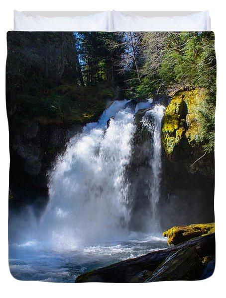 Iron Creek Falls Duvet Cover by Tikvah's Hope
