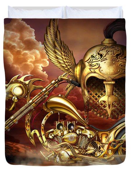 Iron Dragon Duvet Cover