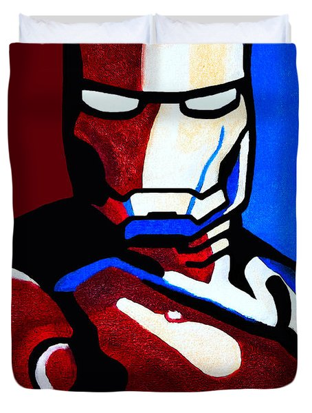 Iron Man 2 Duvet Cover by Barbara McMahon