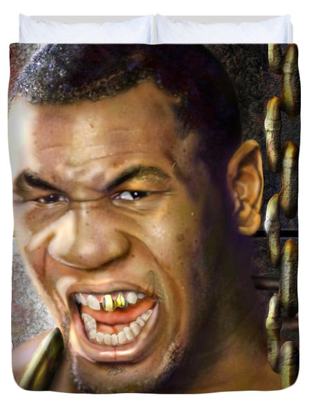 Iron Mike Tyson-no Blood No Glory 1a Duvet Cover by Reggie Duffie