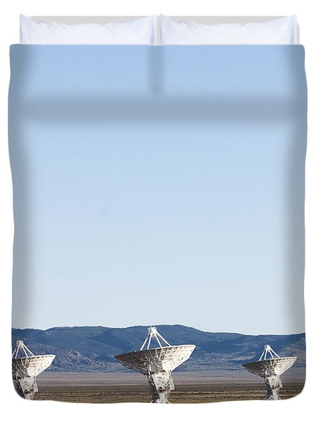 Is There Something Out There Duvet Cover by Steven Ralser