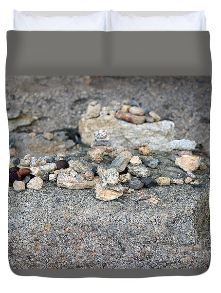 Duvet Cover featuring the photograph Ishi by Cassandra Buckley