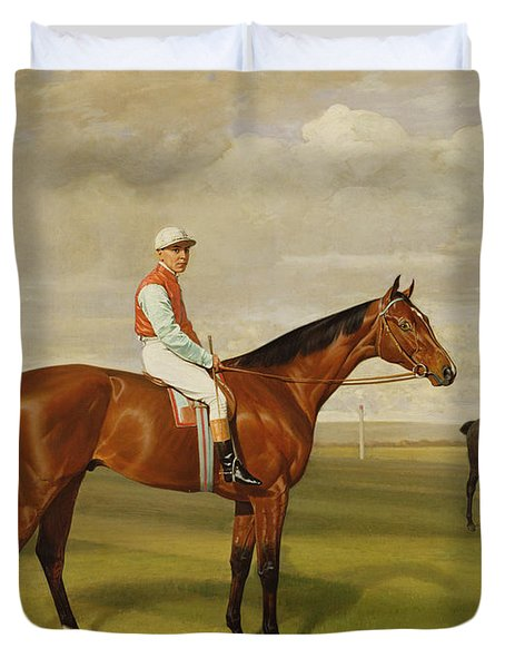 Isinglass Winner Of The 1893 Derby Duvet Cover by Emil Adam