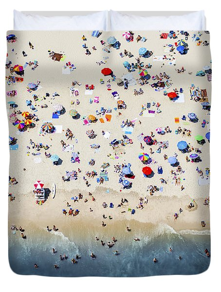 Island Beach State Park Duvet Cover by Mike Raabe