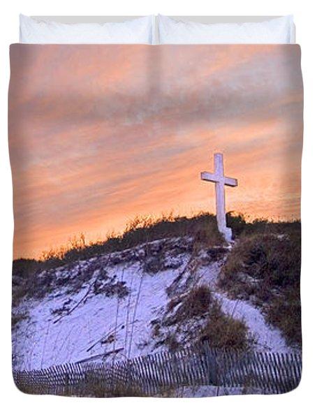 Island Cross Duvet Cover