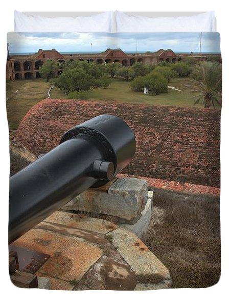 Island Defense Duvet Cover by Adam Jewell