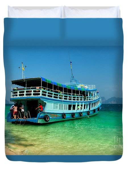 Island Ferry  Duvet Cover by Adrian Evans