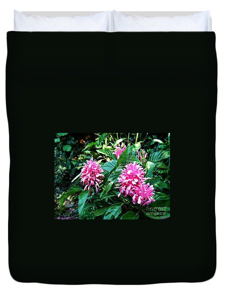 Duvet Cover featuring the photograph Island Flower by Leanne Seymour