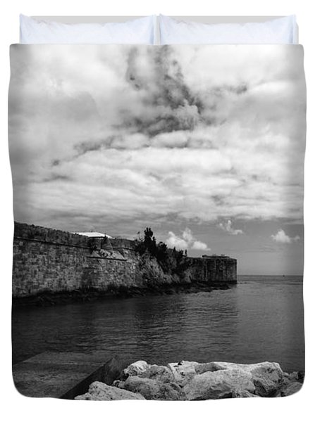 Island Fortress  Duvet Cover