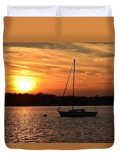 Island Heights Sunset Duvet Cover