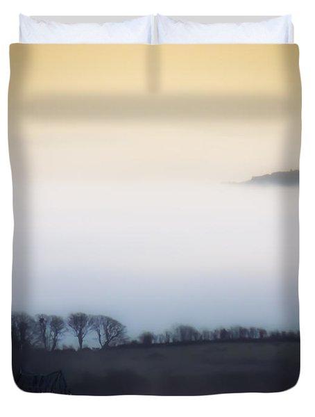 Island In The Irish Mist Duvet Cover