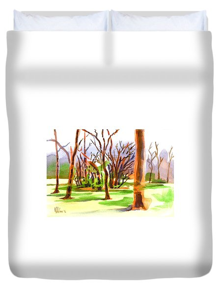 Island In The Wood Duvet Cover by Kip DeVore