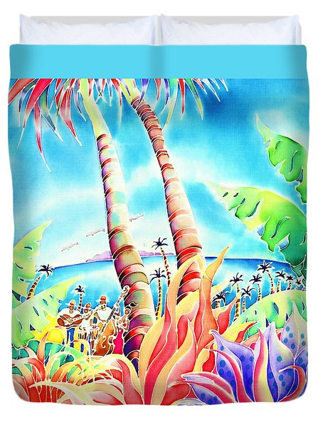 Island Of Music Duvet Cover