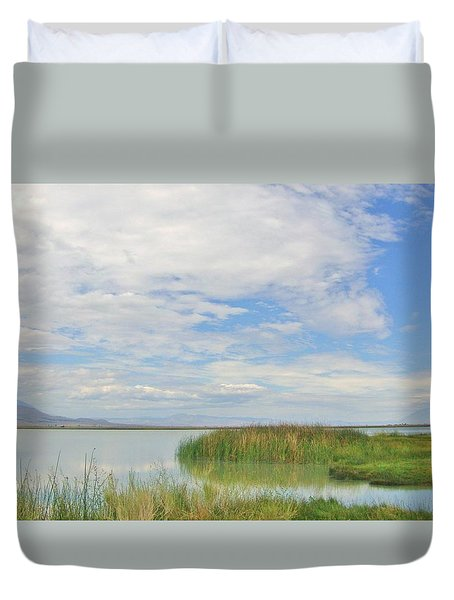 Duvet Cover featuring the photograph Island Peace by Marilyn Diaz
