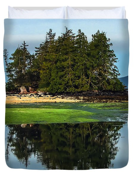 Island Reflection Duvet Cover by Robert Bales