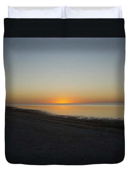 Duvet Cover featuring the photograph Island Sunset by Robert Nickologianis