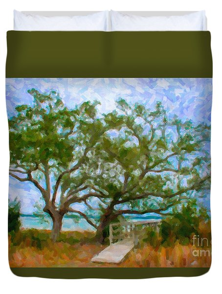 Island Time On Daniel Island Duvet Cover