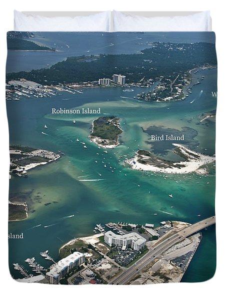 Islands Of Perdido - Labeled Duvet Cover