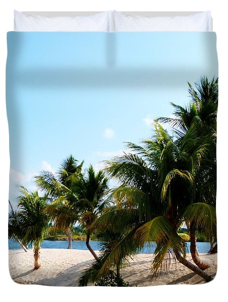 Duvet Cover featuring the photograph Isle @ Camana Bay by Amar Sheow