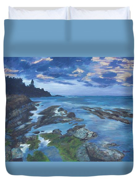 Isle Coast Duvet Cover by Cynthia Morgan