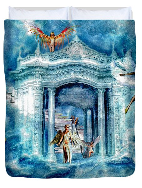 Isle Of Angels Duvet Cover by Amanda Struz