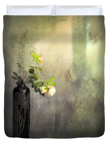 Isn't It Romantic Duvet Cover by Theresa Tahara