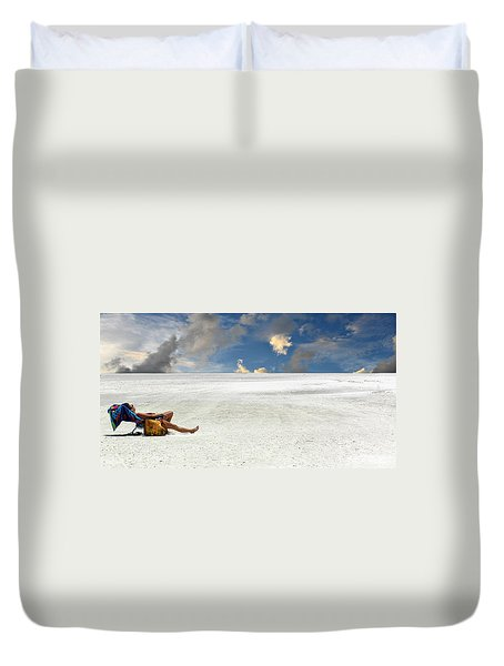 Isn't Life Strange Duvet Cover by Laura Fasulo