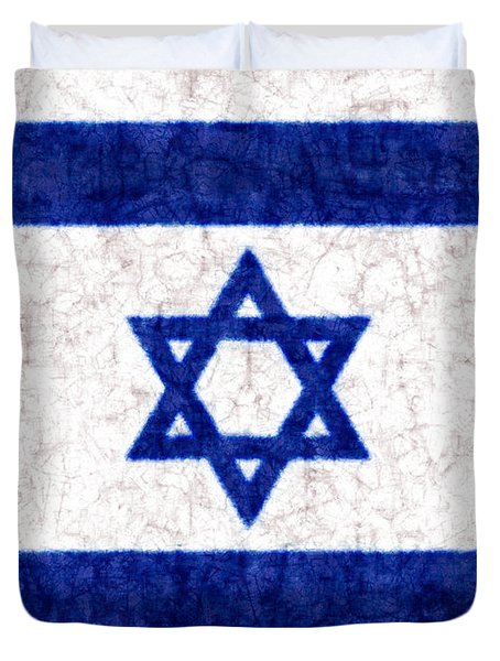 Israel Star Of David Flag Batik Duvet Cover