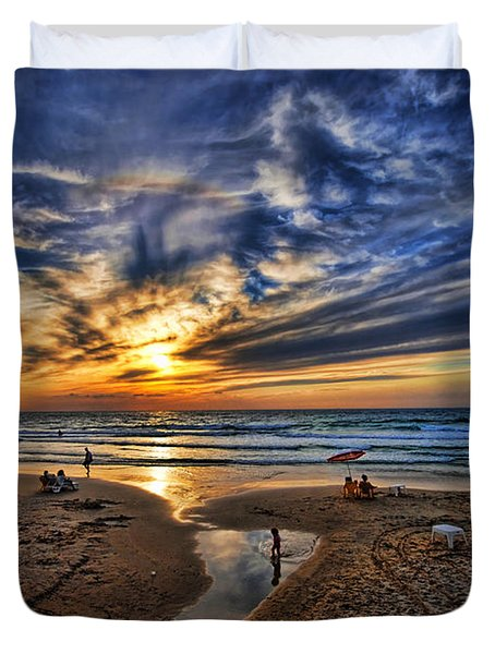Duvet Cover featuring the photograph Israel Sweet Child In Time by Ron Shoshani