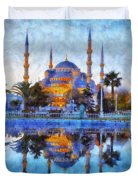 Istanbul Blue Mosque  Duvet Cover