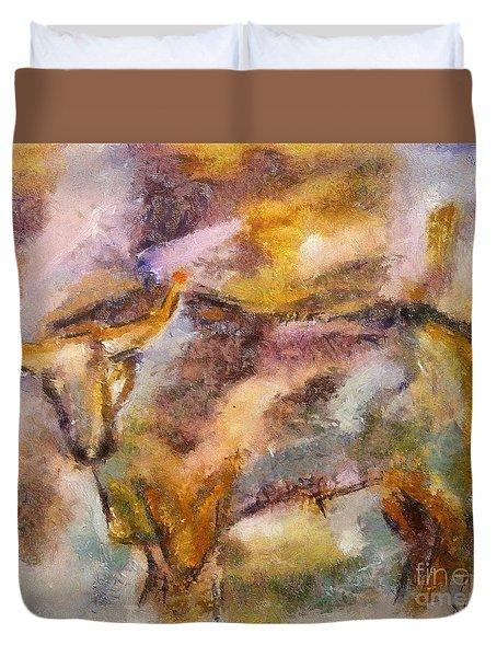 Istrian Bull -  Boshkarin Duvet Cover by Dragica  Micki Fortuna