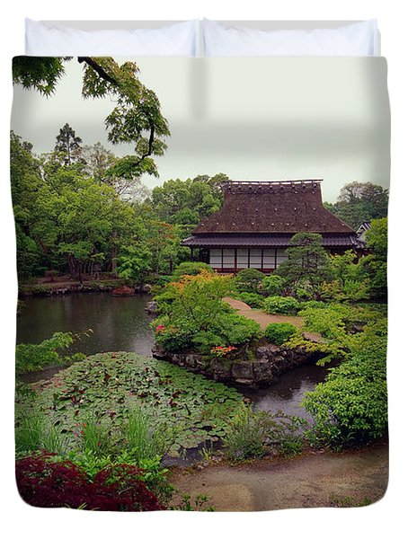 Isuien Garden Tea House - Nara Japan Duvet Cover