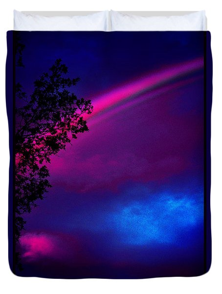 Duvet Cover featuring the photograph It Happened Just This Dawn by Susanne Still