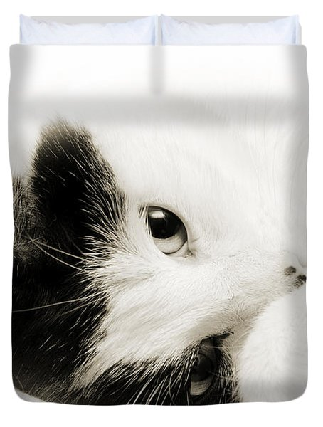 It Is Hard To Be So Cute Duvet Cover by Andee Design