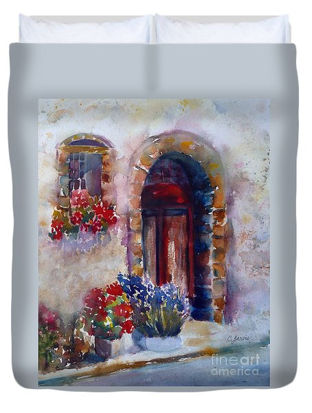 Italian Door Duvet Cover