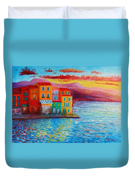 Italian Dream Duvet Cover by Bozena Zajiczek-Panus