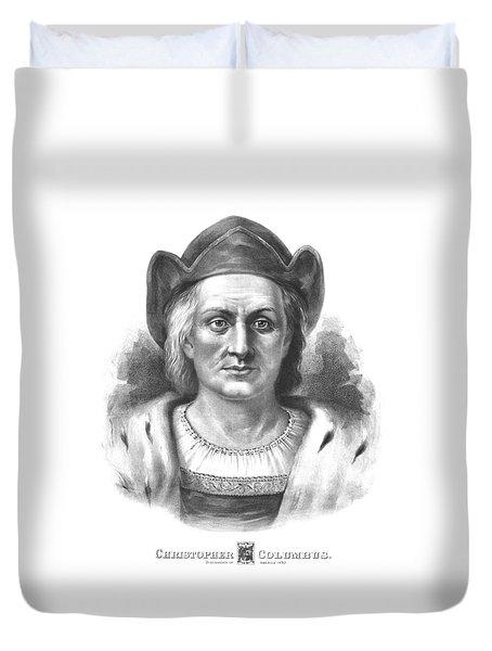 Italian Explorer Christopher Columbus Duvet Cover by War Is Hell Store