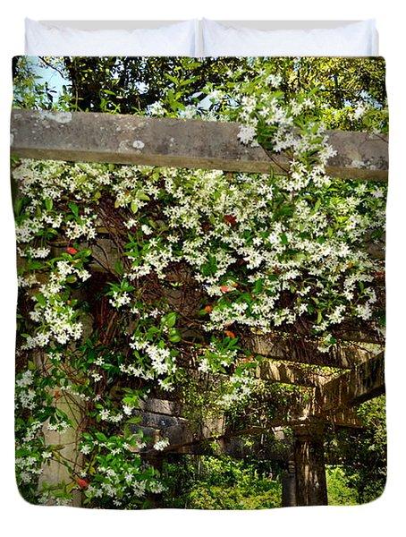 Italian Pergola Flowers  Duvet Cover