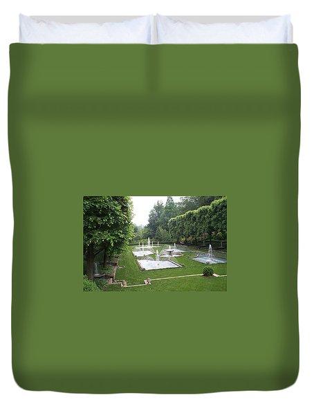 Italian Water Garden Duvet Cover by Barbara McDevitt
