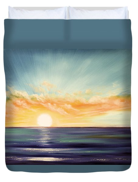 It's A New Beginning Somewhere Else Duvet Cover by Gina De Gorna