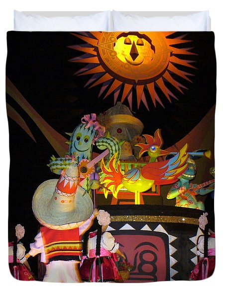 It's A Small World With Dancing Mexican Character Duvet Cover