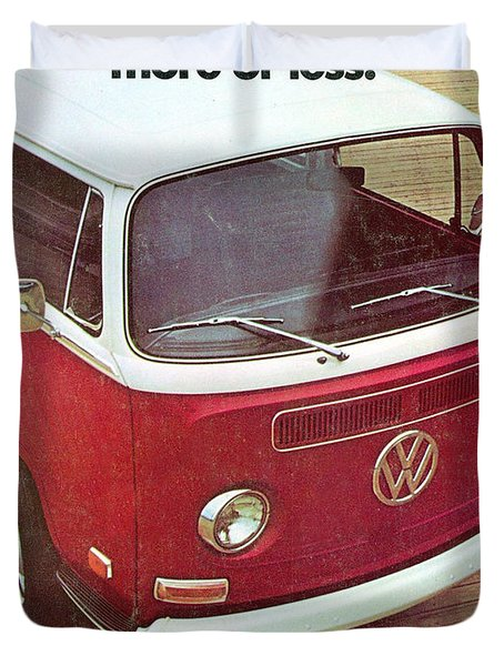 It's A Station Wagon More Or Less - Vw Camper Ad Duvet Cover by Georgia Fowler