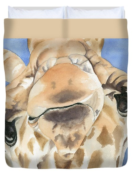 It's Lonely At The Top Duvet Cover by Kimberly Lavelle