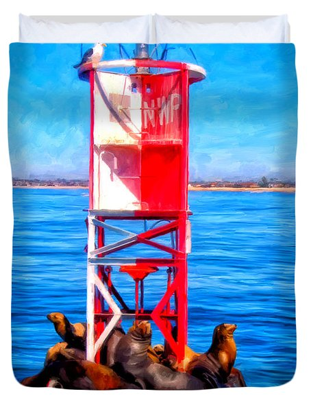 It's Lonely At The Top Duvet Cover by Michael Pickett