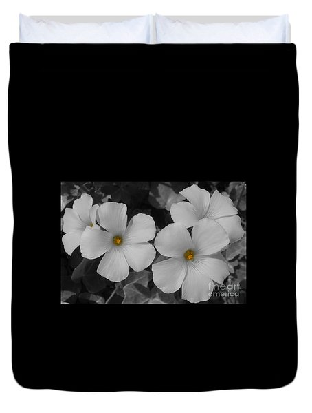 Duvet Cover featuring the photograph Its Not All Black And White by Janice Westerberg