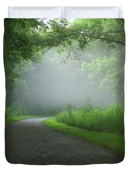 Duvet Cover featuring the photograph Mystery Walk by Douglas Stucky